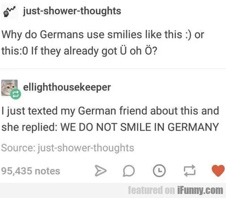 Why Do Germans Use Smilies Like This...