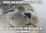 When You Report A Toxic Player And You Receive...