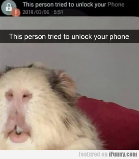 This person tried to unlock your phone..