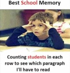 Best School Memory - Counting Students In Each...