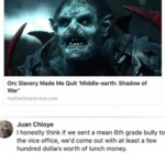 Orc Slavery Made Me Quit Middle-earth - Shadow....