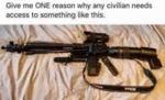 Give Me One Reason Why Any Civilian Needs...