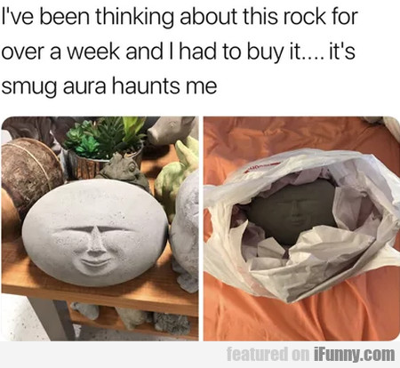 I've been thinking about this rock for over a...