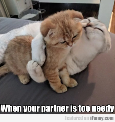 When your partner is too needy...