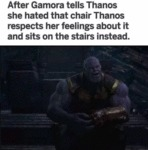 After Gamora Tells Thanos She Hated That Chair...