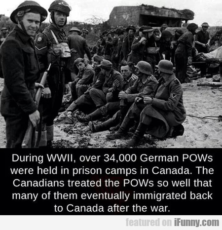 During Wwii, Over 34000 Germans Pows Were Held...