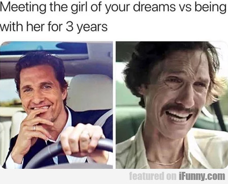 Meeting The Girl Of Your Dreams Vs Being With...