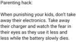 Parenting Hack - When Punishing Your Kids...