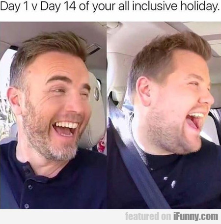 Day 1 V Day 14 Of Your All Inclusive Holiday