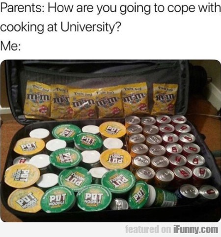 Parents - How Are You Going To Cope With Cooking?