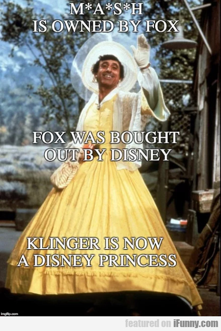 Mash is owned by Fox - Fox was bought by...