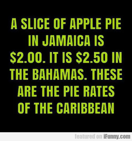 A Slice Of Apple Pie In Jamaica Is $ 2.00 It Is...