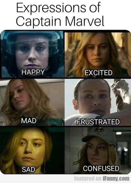 Expressions Of Captain Marvel