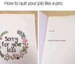 How To Quit Your Job Like A Pro