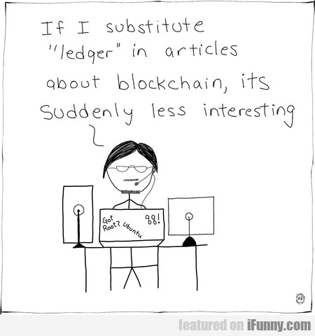 If I Substitute Ledger In Articles About...