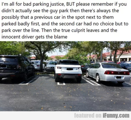 I'm All For Bad Parking Justice, But Please...