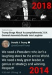 Trump Brags About Accomplishments - U.n. General..