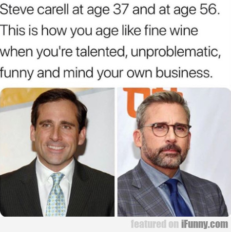 Steve Carell At Age 37 And At Age 56...