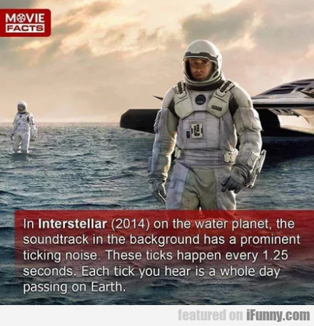 In Interstellar 2014 On The Water Planet, The...
