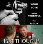 Your Vote Is More Powerful Than A Gun