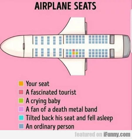 Airplane seats - Your seat - A fascinated tourist