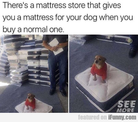 There's A Mattress Store That Gives You A...