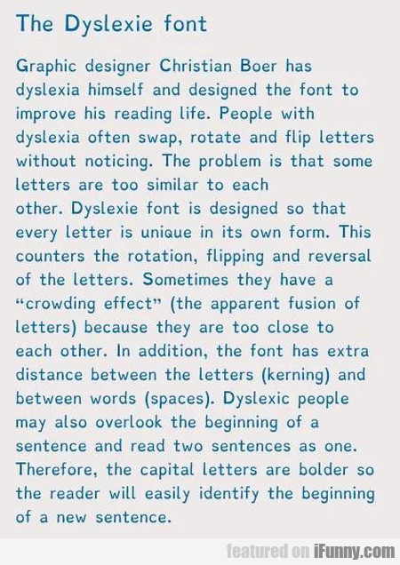 The Dyslexie Font - Graphic Designer Christian...