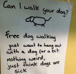 Can I Walk Your Dog - Free Dog Walking...