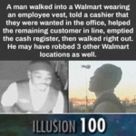 A Man Walked Into A Walmart Wearing An Employee...