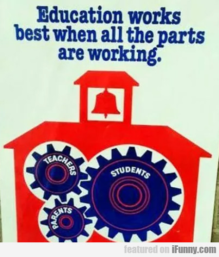 Education Works Best When All The Parts Are...