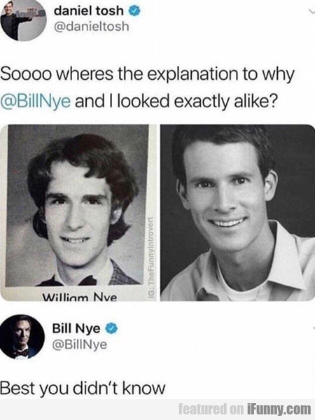 Soooo Wheres The Explanation To Why Billnye And...