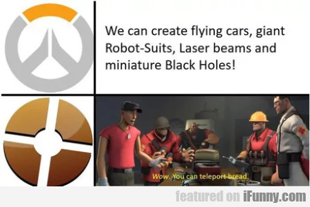 We Can Create Flying Cars, Giant Robot-suits...
