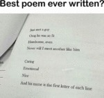 Best Poem Ever Written - Just Met A Guy...