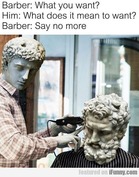 Barber - What You Want - Him - What Does It...