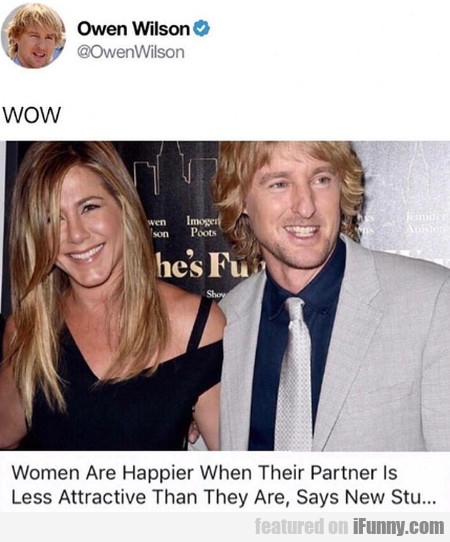 Women Are Happier When Their Partner Is...