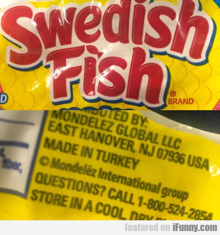 Swedish Fish - Made In Turkey