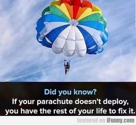 Did You Know? If Your Parachute Doesn't Deploy...
