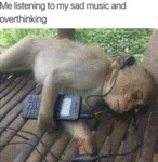 Me Listening To My Sad Music And Overthinking...