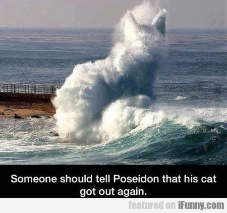 Someone Should Tell Poseidon That His Cat Got Out