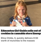 Edmonton Girl Guide Sells Out Cookies In...