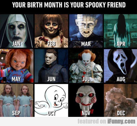 Your Birth Month Is Your Spooky Friend