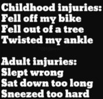 Childhood Injuries - Fell Of My Bike...