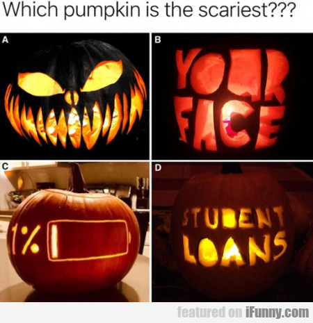 Whick Pumpkin Is The Scariest?