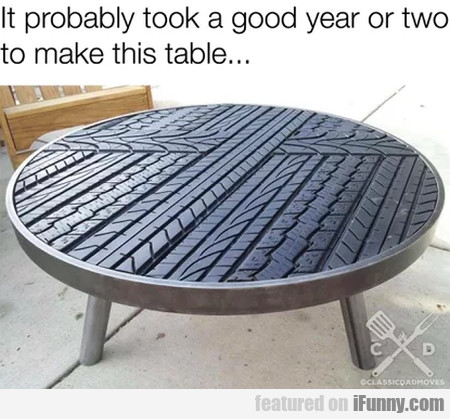 It Probably Took A Good Year Or Two To Make...