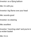 Inventor - So A Flying Balloon - Me - I'm With...