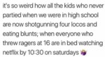 It's So Weird How All The Kids Who Never Partied..