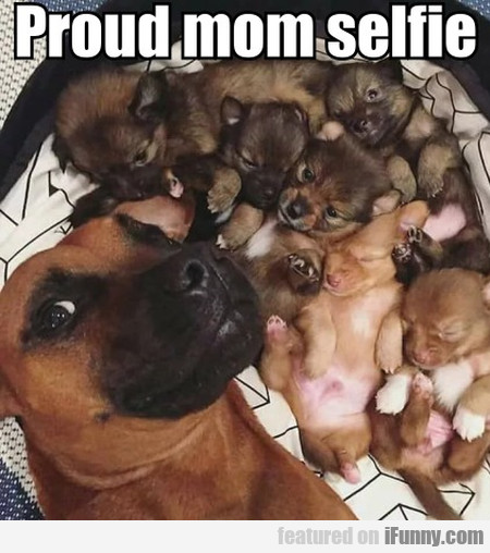 Proud Mom Selfie