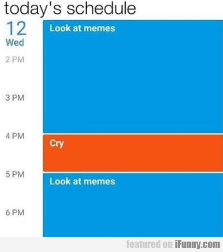 Today's Schedule - Look At Memes