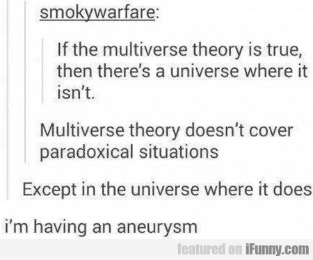 If The Multiverse Theory Is True Then There's A...