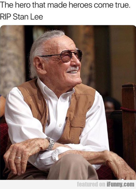 The Hero That Made Heroes Come True. Rip